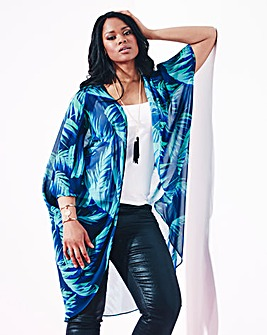 Grazia Tropical Print Kimono Cover-Up