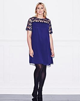 Lovedrobe Lace Trim Swing Dress