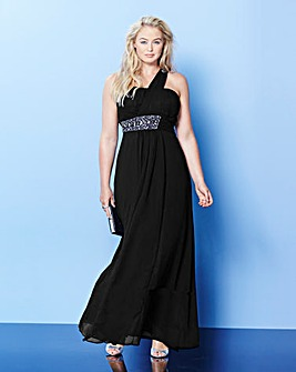 Lovedrobe One Shoulder Maxi Dress