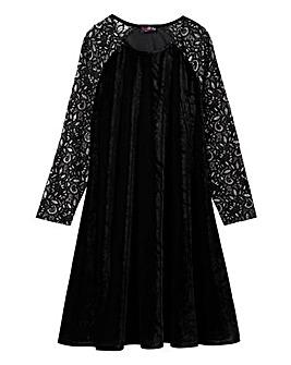 Lovedrobe Velour Swing Dress