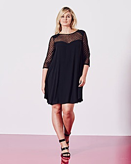 Grazia Star Mesh Swing Dress