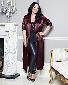 Martine McCutcheon Maxi Satin Jacket