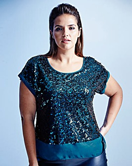 Coast Ruvern Sequin Top