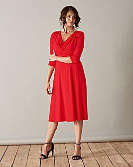 Scarlett & Jo Cowl Neck Jersey Dress