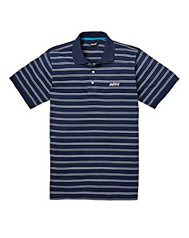 Mitre Navy Stripe Polo Long