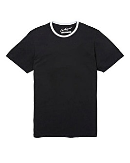 Jacamo Ringer Crew Tee Black Long