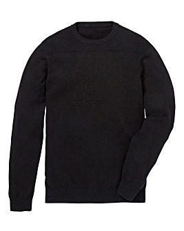 Jacamo Black Crew Knitwear