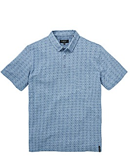 Flintoff By Jacamo Chambray Polo Long