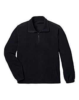 Capsule Black Basic Zip Neck Fleece