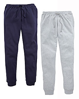JCM Sports Pack of Two Fleece Joggers 31