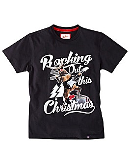 Joe Browns Rocking Out Christmas Tee Lon