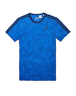 Adidas 3 Stripe Print T-Shirt