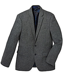 Black Label Pattern Tweed Blazer Long