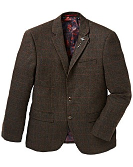 Black Label Checked Tweed Blazer Long