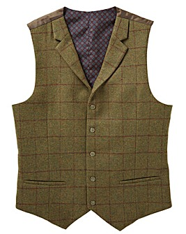 Black Label Checked Waistcoat Regular