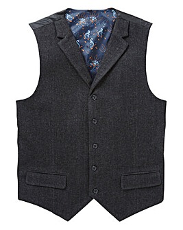 Black Label Herringbone Waistcoat Long