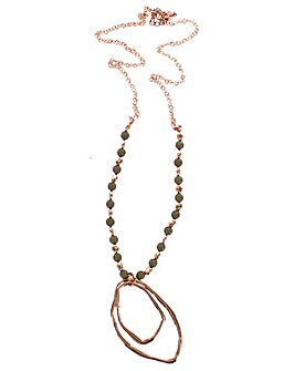 Lizzie Lee Beaded Outline Necklace