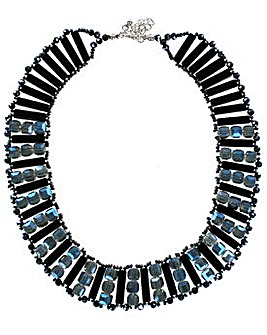 Lizzie Lee Facet Bead Collar Necklace