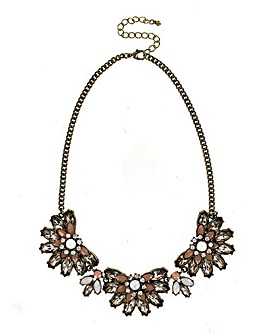 Multi Flower Statement Necklace