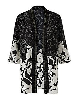 Together Contrast Print Kimono