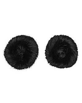Joanna Hope Faux-Fur Cuffs