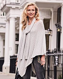 Joanna Hope Stud Detail Poncho and Scarf