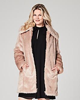 Champagne Faux Fur Coat