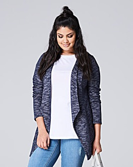 Longline Waterfall Front Jersey Jacket