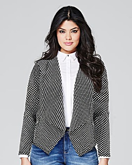 Textured Jersey Waterfall Jacket