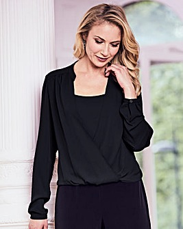 Joanna Hope Wrap Blouse
