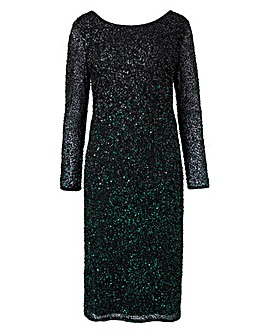 Joanna Hope Embellished Ombre Dress