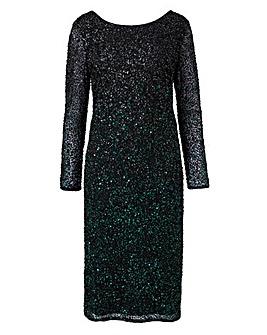 Joanna Hope Embellished Ombre Dress