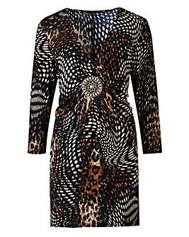 Joanna Hope Animal Print Tunic