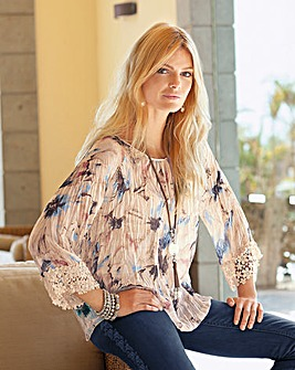 Together Print Crinkle Blouse