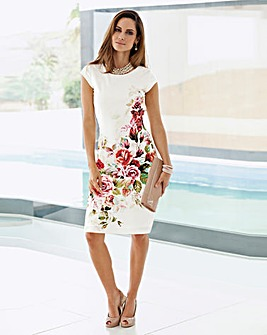 Together Print Scuba Dress