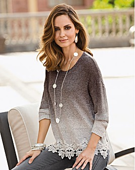 Together Lace Hem Jumper