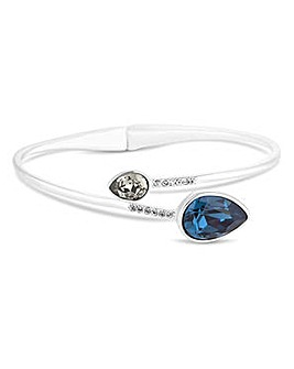 Jon Richard Blue peardrop open bangle
