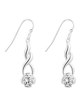 Simply Silver swirl drop earring