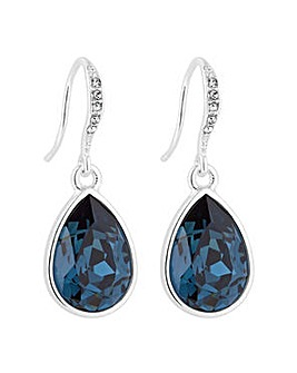 Jon Richard Blue peardrop earring
