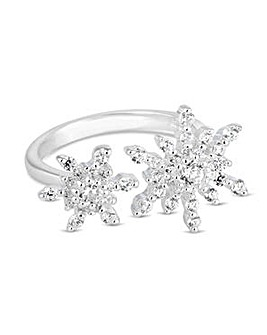 Simply Silver starburst open ring