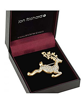 Jon Richard Gold reindeer brooch