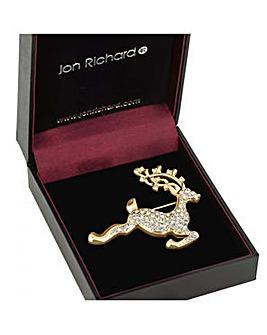 Jon Richard Gold reindeer brooch