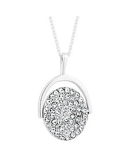Simply Silver spinning pendant necklace