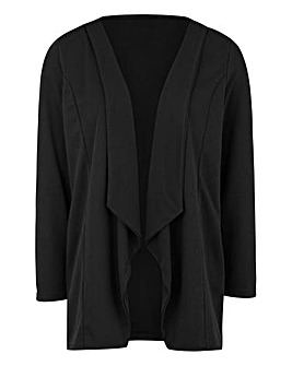 Longline Jersey Waterfall Jacket