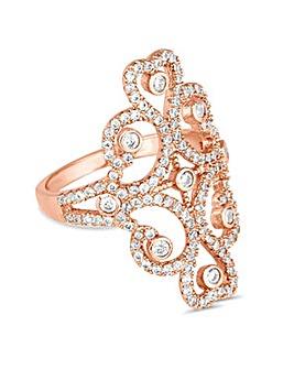 Jon Richard rose gold swirl ring