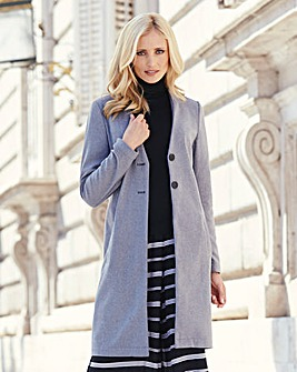 Collarless Casual Coat