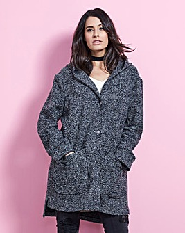 RELAXED HOODED COAT