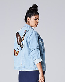 Badge Denim Jacket