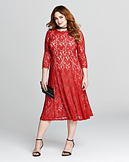 Joanna Hope Contrast Lace Dress