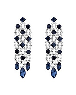 Jon Richard Blue diamante drop earring